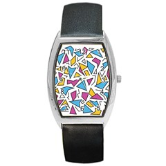 Retro Shapes 01 Barrel Style Metal Watch
