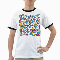 Retro Shapes 01 Ringer T Shirts