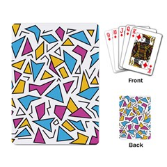 Retro Shapes 01 Playing Card