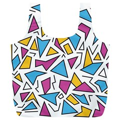 Retro Shapes 01 Full Print Recycle Bags (l)