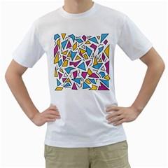 Retro Shapes 01 Men s T Shirt (white)
