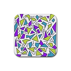 Retro Shapes 02 Rubber Coaster (square)