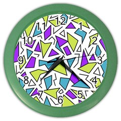 Retro Shapes 02 Color Wall Clocks