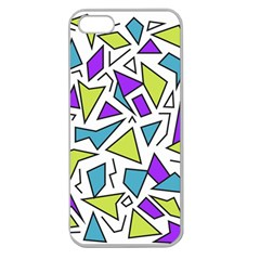 Retro Shapes 02 Apple Seamless Iphone 5 Case (clear)