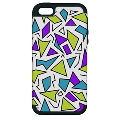 Retro Shapes 02 Apple Iphone 5 Hardshell Case (pc+silicone)