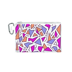 Retro Shapes 03 Canvas Cosmetic Bag (s)