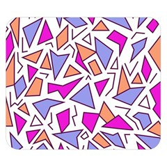 Retro Shapes 03 Double Sided Flano Blanket (small)