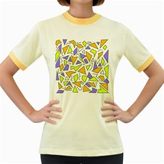 Retro Shapes 04 Women s Fitted Ringer T Shirts