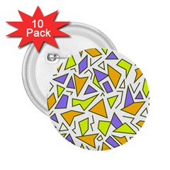 Retro Shapes 04 2 25  Buttons (10 Pack)