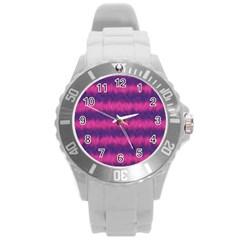 Cheshire Cat 01 Round Plastic Sport Watch (l)