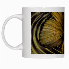 Butterfly Insect Wave Concentric White Mugs