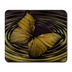 Butterfly Insect Wave Concentric Large Mousepads