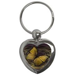Butterfly Insect Wave Concentric Key Chains (heart)