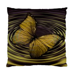 Butterfly Insect Wave Concentric Standard Cushion Case (one Side)