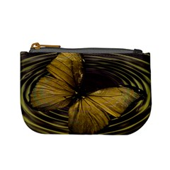 Butterfly Insect Wave Concentric Mini Coin Purses