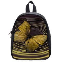 Butterfly Insect Wave Concentric School Bag (small)