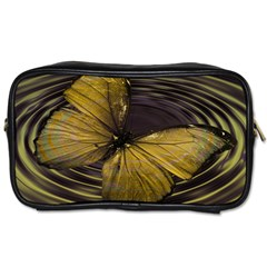 Butterfly Insect Wave Concentric Toiletries Bags 2 Side