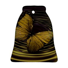 Butterfly Insect Wave Concentric Bell Ornament (two Sides)
