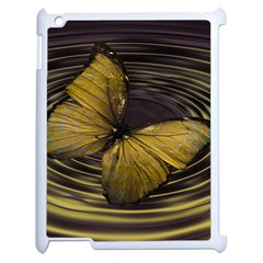 Butterfly Insect Wave Concentric Apple Ipad 2 Case (white)