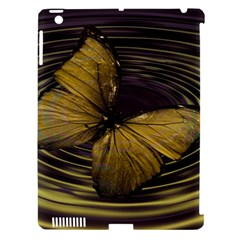 Butterfly Insect Wave Concentric Apple Ipad 3/4 Hardshell Case (compatible With Smart Cover)