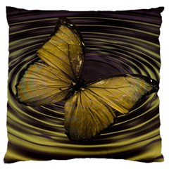 Butterfly Insect Wave Concentric Large Cushion Case (one Side)