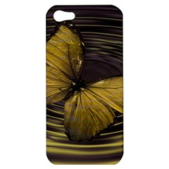 Butterfly Insect Wave Concentric Apple Iphone 5 Hardshell Case