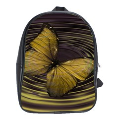 Butterfly Insect Wave Concentric School Bag (xl)