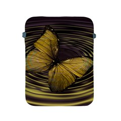 Butterfly Insect Wave Concentric Apple Ipad 2/3/4 Protective Soft Cases