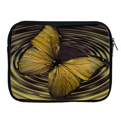 Butterfly Insect Wave Concentric Apple Ipad 2/3/4 Zipper Cases