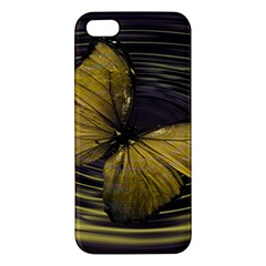 Butterfly Insect Wave Concentric Iphone 5s/ Se Premium Hardshell Case