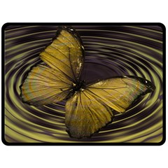 Butterfly Insect Wave Concentric Double Sided Fleece Blanket (large)