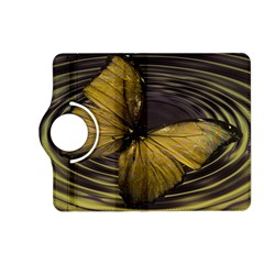 Butterfly Insect Wave Concentric Kindle Fire Hd (2013) Flip 360 Case