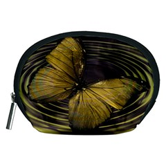 Butterfly Insect Wave Concentric Accessory Pouches (medium)