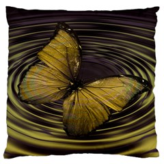 Butterfly Insect Wave Concentric Standard Flano Cushion Case (two Sides)