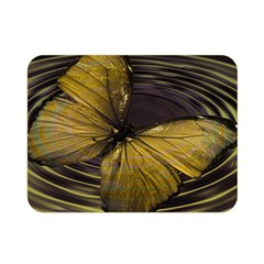 Butterfly Insect Wave Concentric Double Sided Flano Blanket (mini)