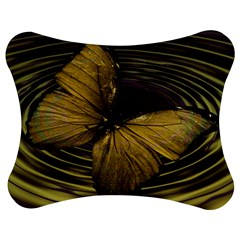 Butterfly Insect Wave Concentric Jigsaw Puzzle Photo Stand (bow)