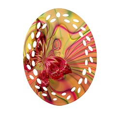 Arrangement Butterfly Aesthetics Oval Filigree Ornament (two Sides)