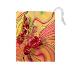 Arrangement Butterfly Aesthetics Drawstring Pouches (large)