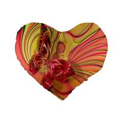 Arrangement Butterfly Aesthetics Standard 16  Premium Flano Heart Shape Cushions