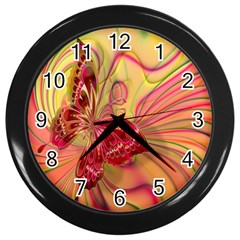 Arrangement Butterfly Aesthetics Wall Clocks (black)
