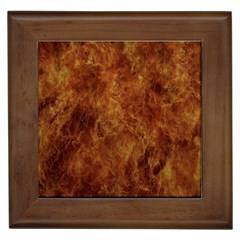 Abstract Flames Fire Hot Framed Tiles