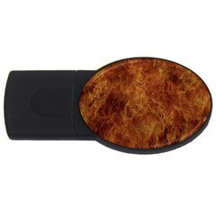 Abstract Flames Fire Hot Usb Flash Drive Oval (2 Gb)
