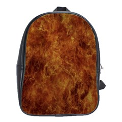 Abstract Flames Fire Hot School Bag (large)
