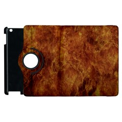 Abstract Flames Fire Hot Apple Ipad 2 Flip 360 Case