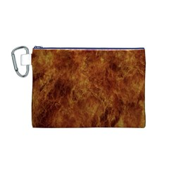 Abstract Flames Fire Hot Canvas Cosmetic Bag (m)
