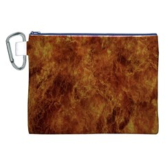 Abstract Flames Fire Hot Canvas Cosmetic Bag (xxl)
