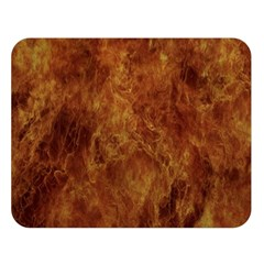 Abstract Flames Fire Hot Double Sided Flano Blanket (large)