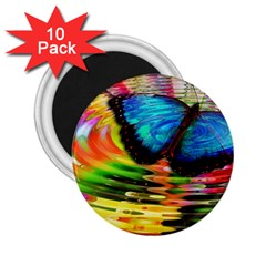 Blue Morphofalter Butterfly Insect 2 25  Magnets (10 Pack)