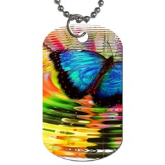 Blue Morphofalter Butterfly Insect Dog Tag (one Side)