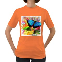 Blue Morphofalter Butterfly Insect Women s Dark T Shirt